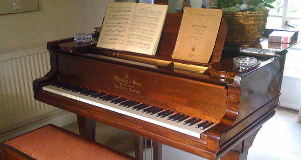 pianoforte with sheets